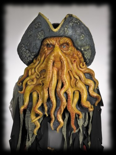 Best Movie Halloween Mask of 2012 The Pirates of the Caribbean Davy Jones Halloween Mask