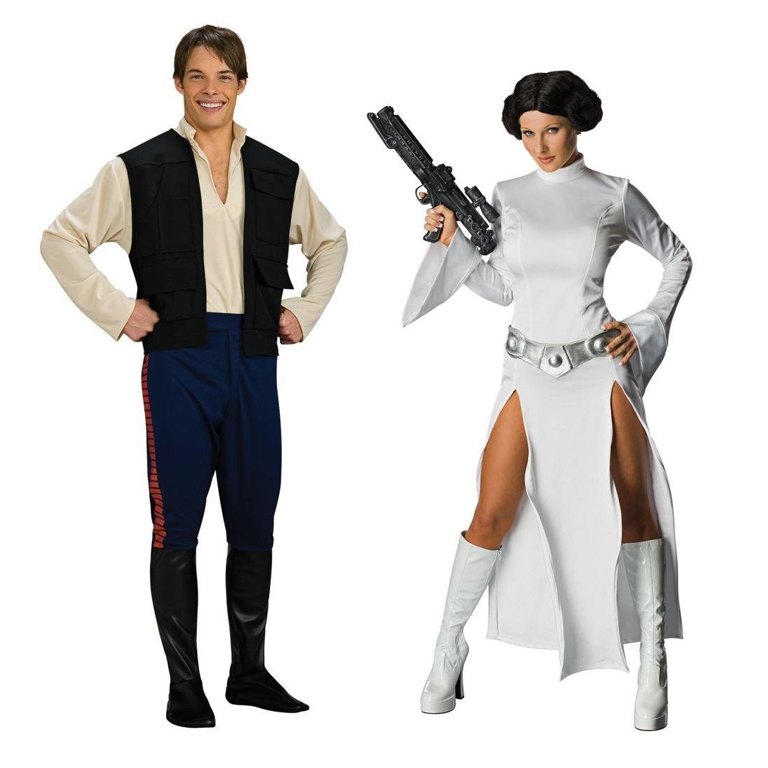 Han Solo and Princes Leia Best Couples Halloween Costume 2012