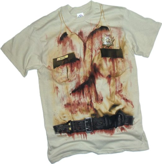 The Walking Dead Rick's Sheriff T-Shirt Lazy Halloween Costume